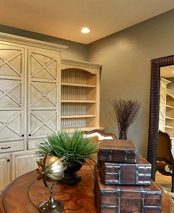 Custom Cabinets in an Office