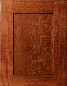 Quarter sawn oak door in mission style