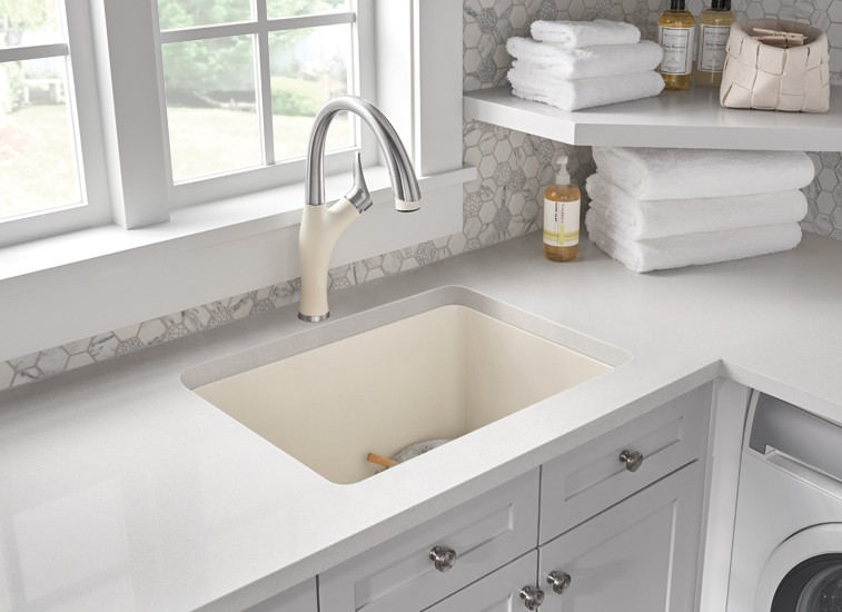 Undermount laundry sink