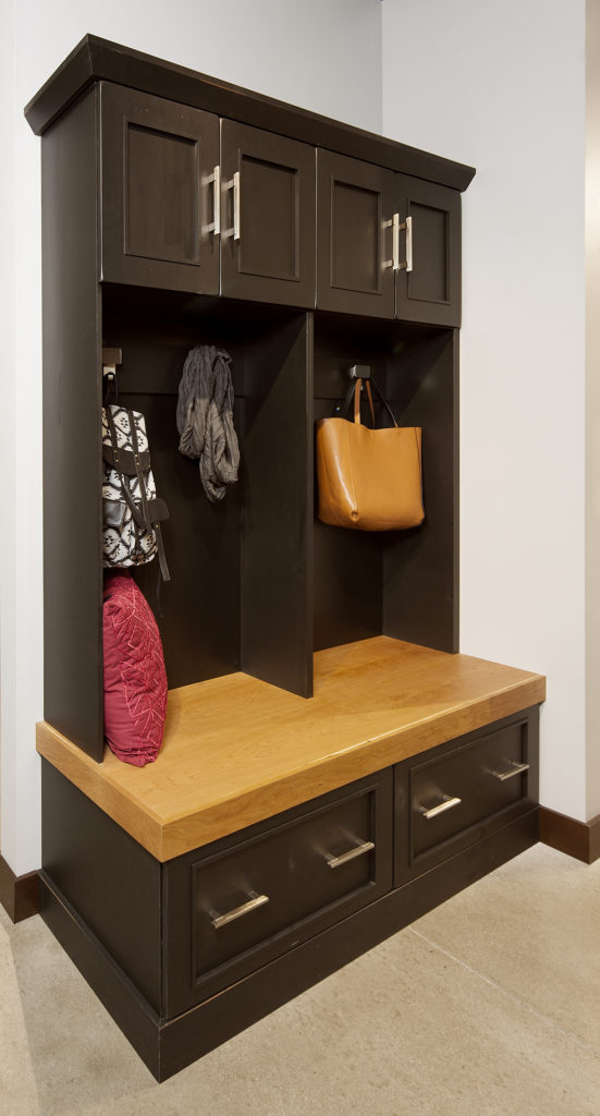 Locker with coat hooks