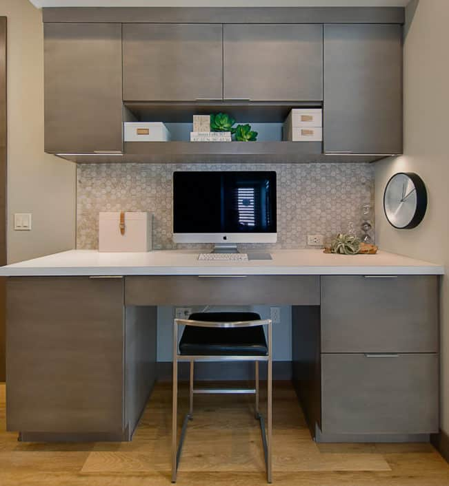 gray modern cabinets
